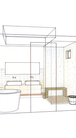 dolores heights master bath rendering