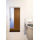sliding master bathroom door of bamboo plywood, resing and steel